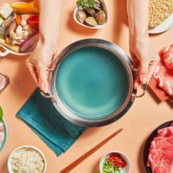 夢幻「藍眼淚雞湯鍋」限定供應